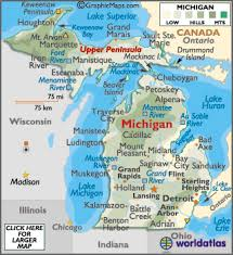 usa map kalamazoo michigan maps including outline and topographical maps
