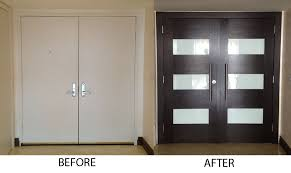 modern contemporary front entrance exterior door with 2 side lites