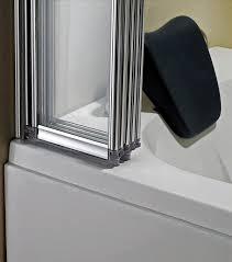 bath door glass 5 fold 1200 x 1400mm folding shower glass bath screen ff12