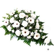 funeral flower white funeral spray funeral flowers isle of wight flowers