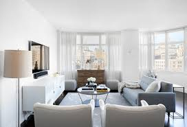 urban living room decor the well appointed catwalk modern minimalist new york apartment