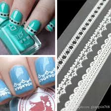 3d nail art sticker 160 designs elegant white black pink lace