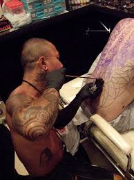 kk getting tattooed by kaka a traditional ex monk thai u2026 flickr