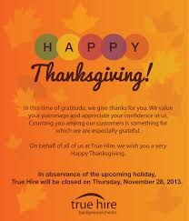 true hire wishes you a happy thanksgiving background checks for