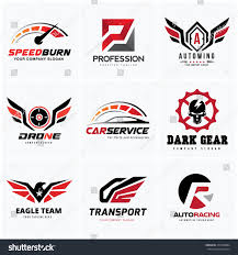 lion car symbol automotive logo setauto setcar services logo stock vector