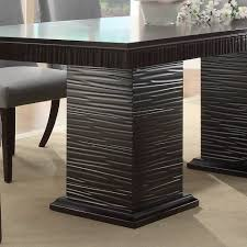 Espresso Dining Room Furniture Homelegance Chicago Double Pedestal Dining Table In Deep Espresso