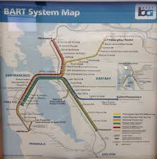 Bart Line Map by Transit Maps