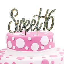 16 cake topper jennygems sweet 16 cake topper rhinestones 16th