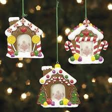 gingerbread house photo ornaments 12 count home