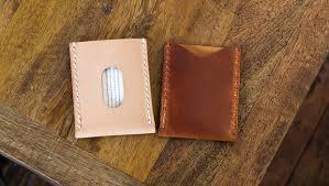 basic leather card sleeve template build along video tutorial