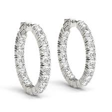 inside out diamond hoop earrings alluring diamond hoop earrings fascinating diamonds
