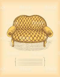 vintage sofa drawing stock vector art 163836177 istock