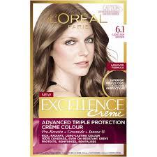 light ash brown hair color l oreal excellence crème 6 1 light ash brown 1pk woolworths