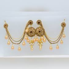 girls gold necklace images Mybluepink gold plated bahubali stylish fancy party wear pearl jpg