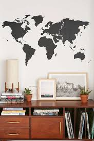 Black World Map by 10 World Map Designs To Decorate A Plain Wall Contemporist