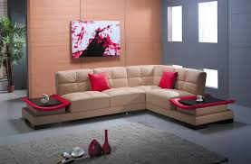 ev 3336 contemporary leather sectional furniture with built in
