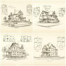 Blueprint Homes Floor Plans 704 Best Historic House Plans Images On Pinterest Vintage Houses