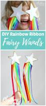 diy rainbow ribbon fairy wands for kids princess wands rainbow