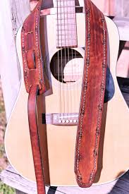 Confederate Flag Guitar Strap Personalized Leather Guitar Straps By Miller U0027s Leather Shop