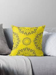 circle lace organic ornament throw pillows by krasnoperaolga