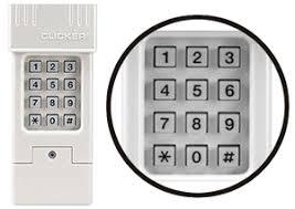 How To Reprogram Genie Garage Door Keypad by Clicker Garage Door Opener Chamberlain