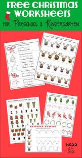 free preschool and kindergarten worksheets for christmas mess