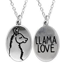 love necklace sterling silver images Silver llama necklace jpg