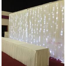lighted tulle table swag for wedding pleated backdrop