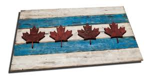 Canada Flag Colors Weathered Wood One Of A Kind Chicago Flag Canada Style Vintage
