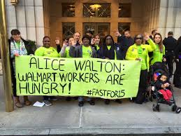 no thanks for poverty wages workers tell walmart and wendy s