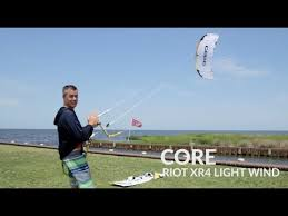 best light wind kite 2017 core riot xr4 lw light wind kiteboarding kite review youtube