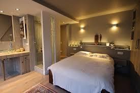 salle de bain ouverte sur chambre suite parentale avec salle de bain ouverte chambre