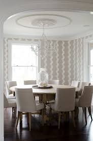 centerpieces for round dining room traditional with beige panel