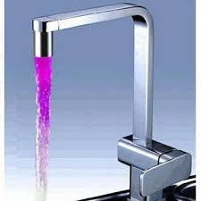china led bathroom faucet waterfall glass faucet mixer tap no