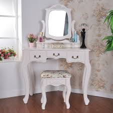 vanity makeup table with lighted mirror classic silver brushed