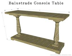 build a console table how to build a diy balustrade console table