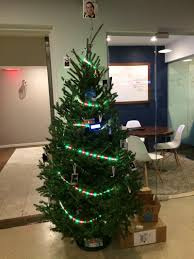 button s programmable connected led decorated tree