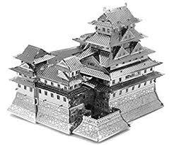 Himeji Castle Floor Plan Amazon Com Fascinations Metal Earth Himeji Castle 3d Metal Model