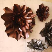 Metal Flower Wall Decor - small and large rustic metal wall flower ubu