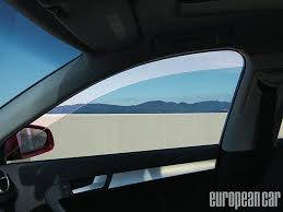 mirror tint on red car vanity decoration