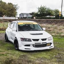 mitsubishi evo mitsubishi evolution widebody kit by clinched fits evo7 evo8 evo9