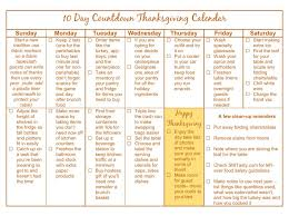 10 day countdown thanksgiving calendar novak