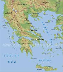 Geography Map Greece Physical Map