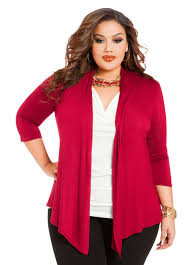 sponsored plus size fashion trend of the day cinch back cardigan