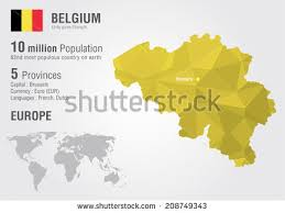belgium language map vector illustration belgium regional map stock vector 281818658