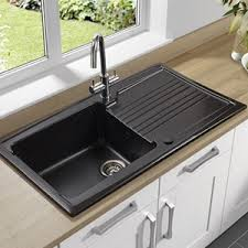Kitchen Sink Black Coloured Kitchen Sinks Grey Porcelain More Tap Warehouse
