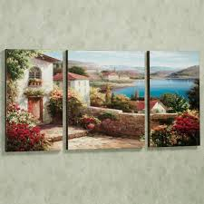interior landscape triptych canvas wall art for adorable dining