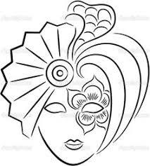 princess mask template coloring mask