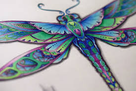 johanna basford enchanted forest how to color a dragonfly
