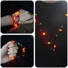 flashing christmas light necklace flashing christmas light bulb necklace bracelet earrings led holiday